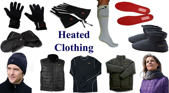 electric, battery powered heated clothing