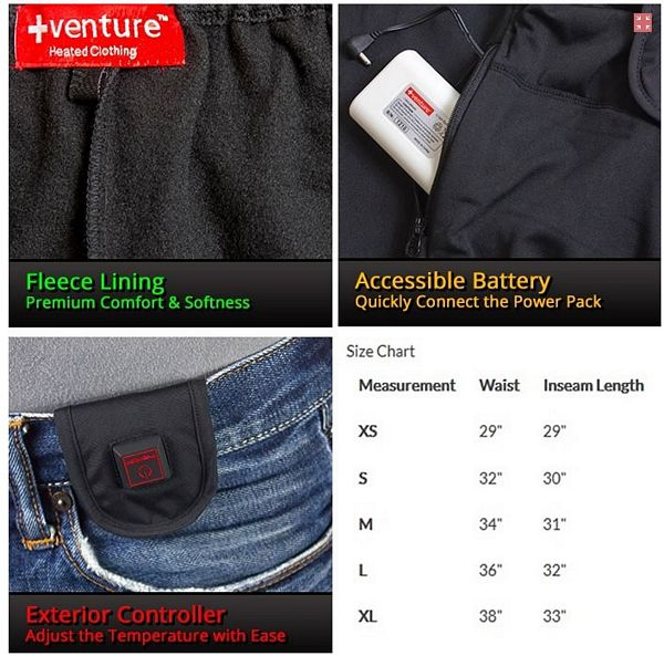 electric heated pants