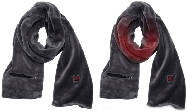 electric rechargeable heated scarf