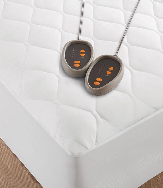 dual control electric heated mattress pad