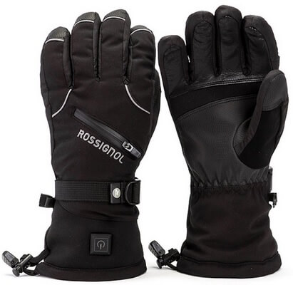 heated ski gloves rechargeable