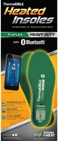 thermacell proflex rechargeable heated insoles