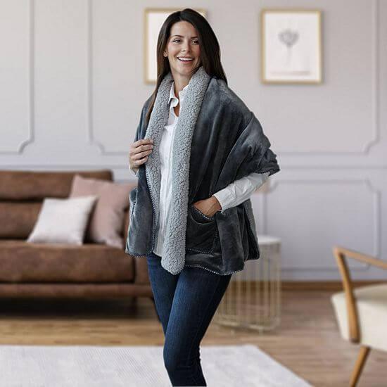 heated shawl wrap
