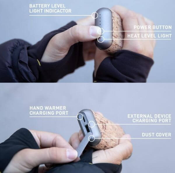 battery powered hand warmer